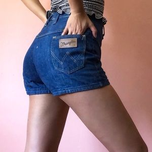 Vintage Wrangler High Waist Denim Shorts